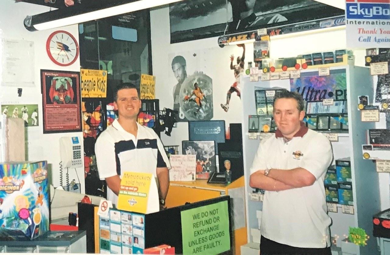 Matt and Ben of sports card world around 1997