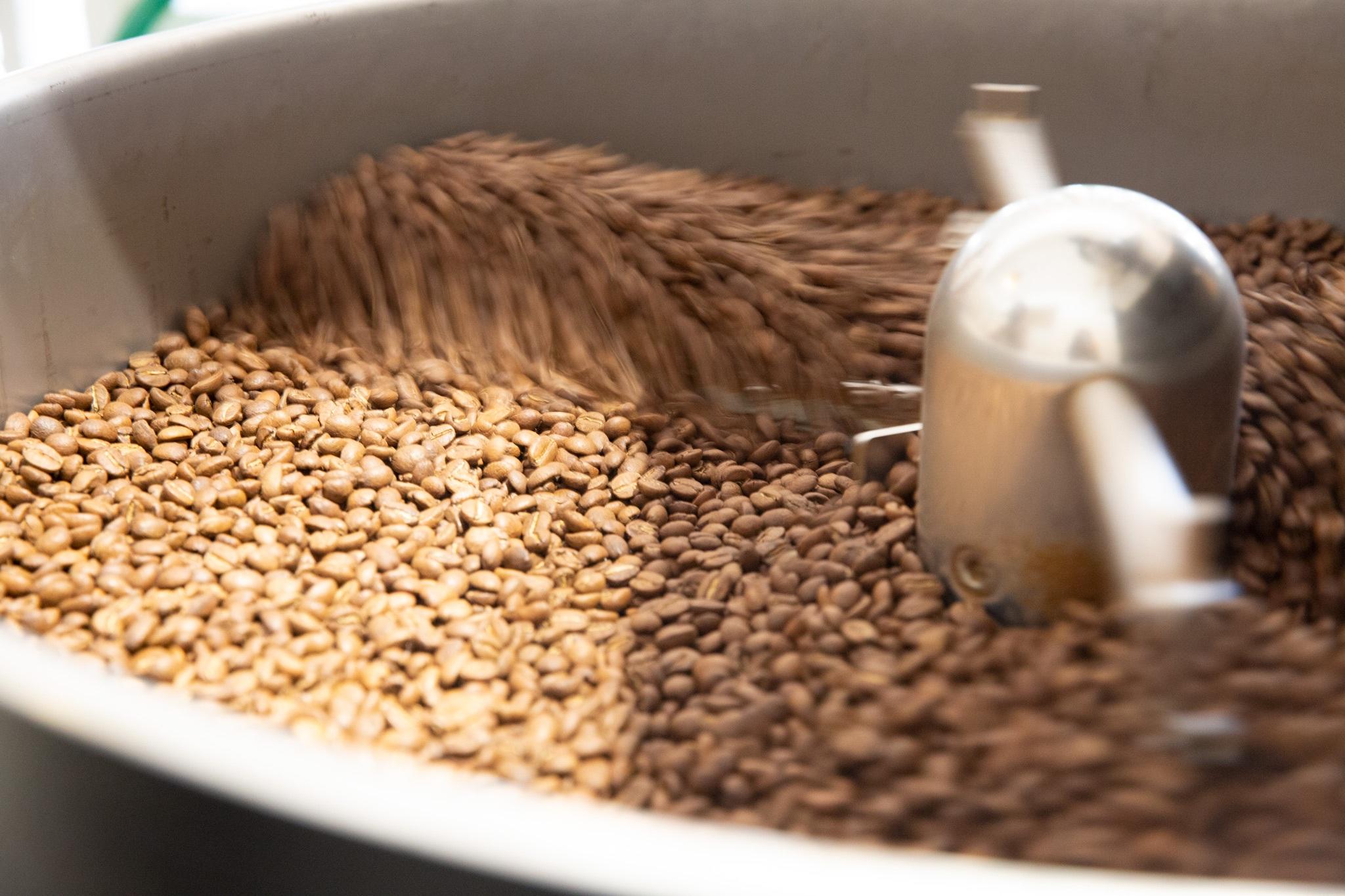 Beans roasting