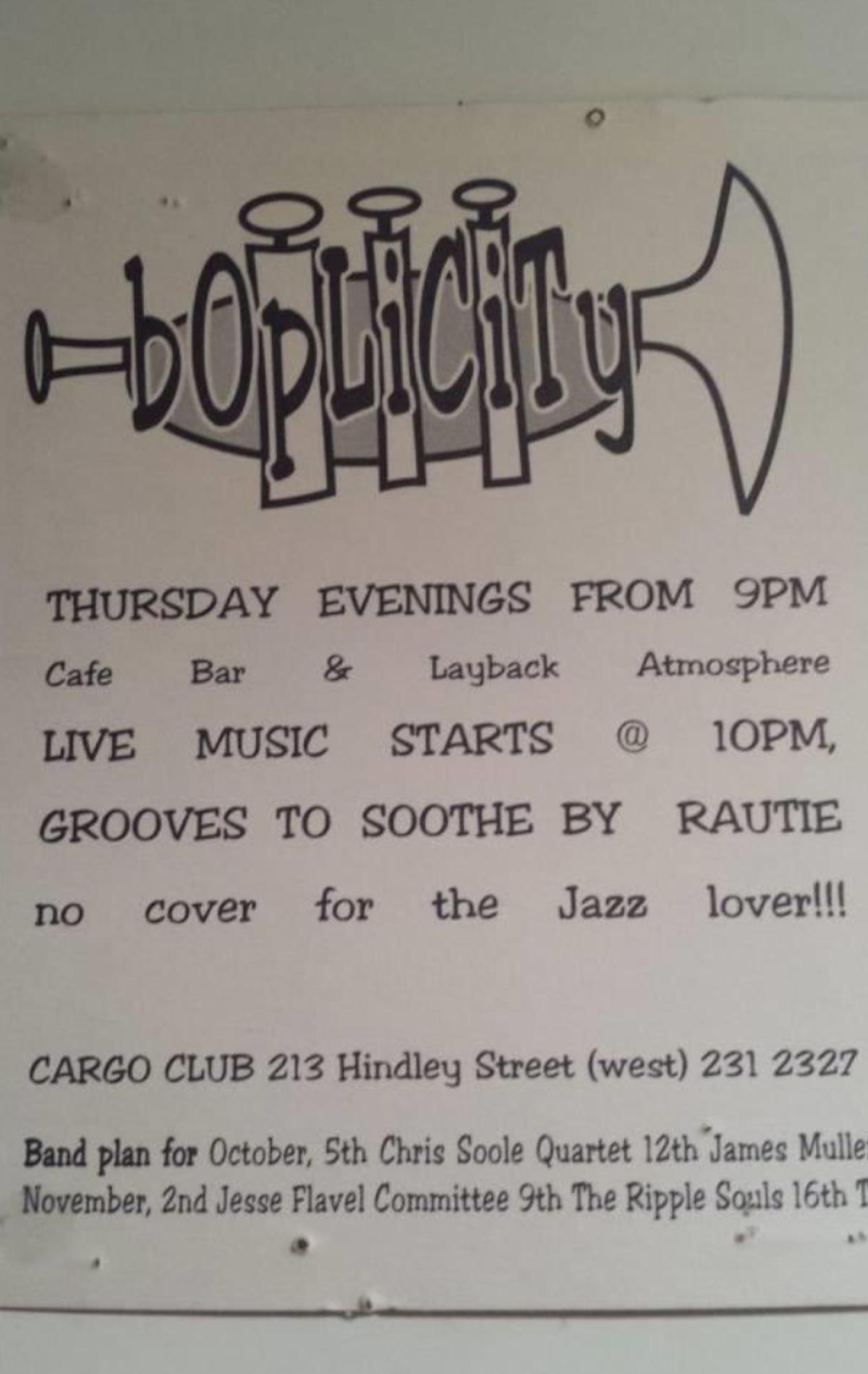 Cargo club jazz poster