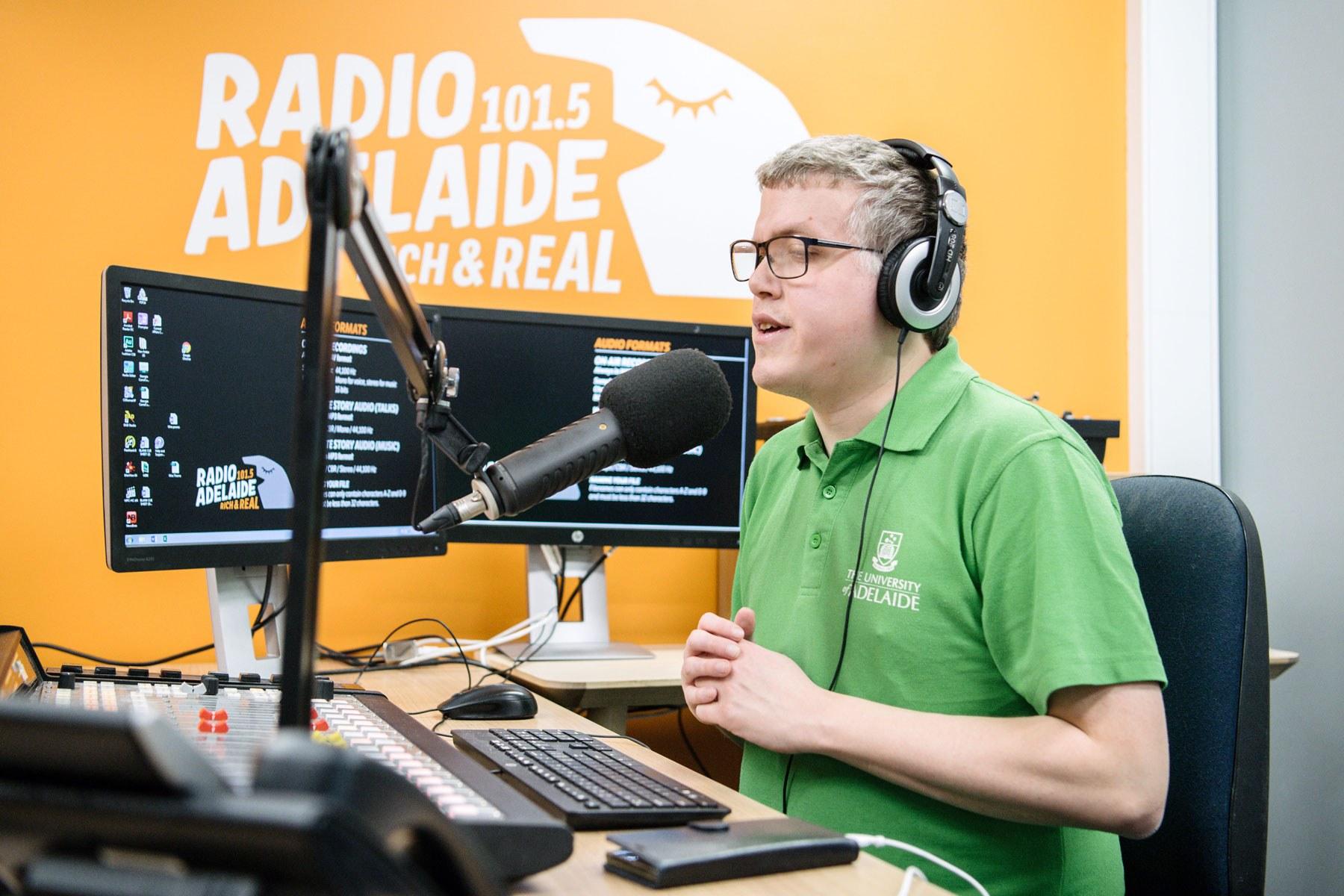 Coa access and inclusion advisory panel member jarad mcloughlin at radio adelaide