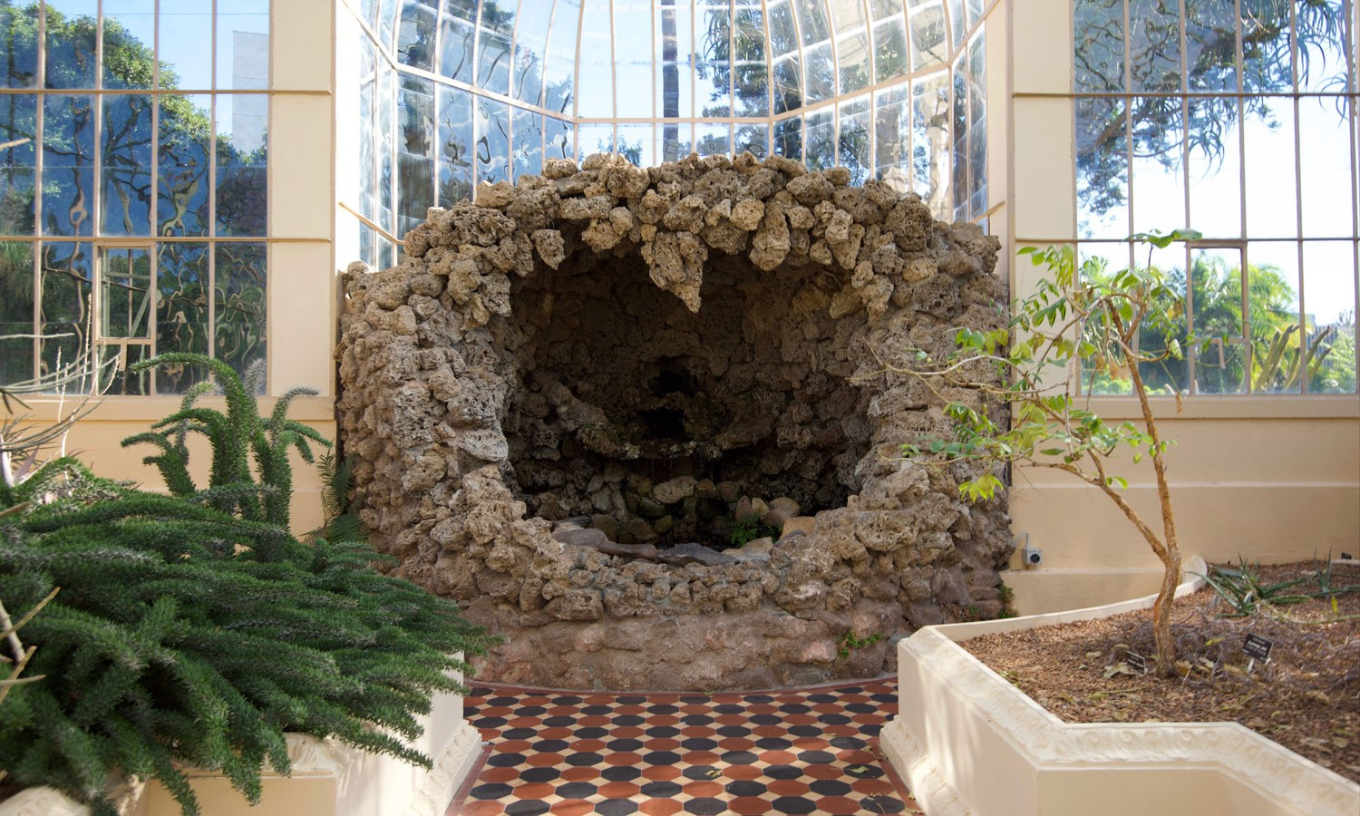 Palm house grotto