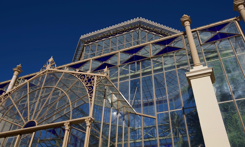 Palm house ironwork glass detail