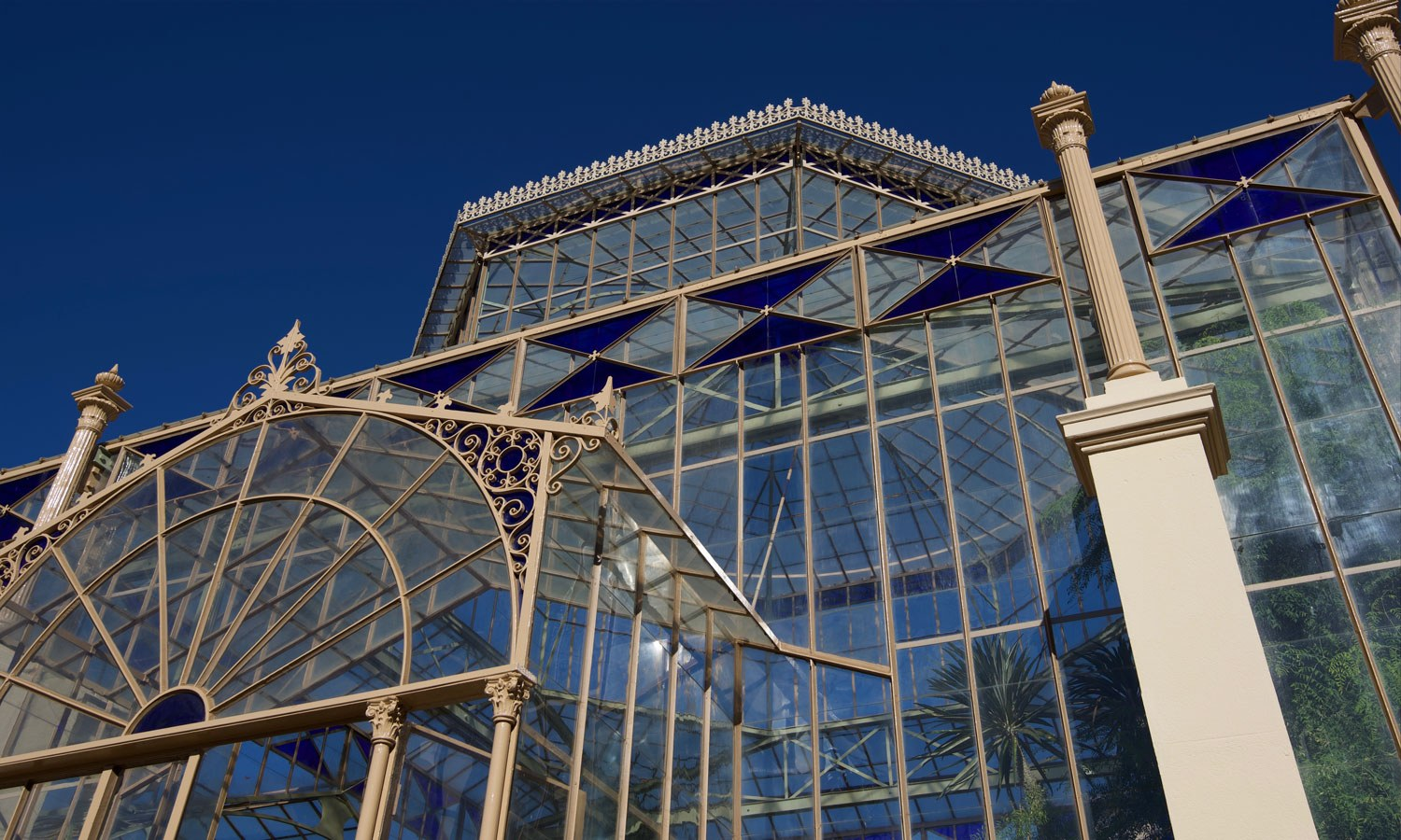 Palm house ironwork glass detail