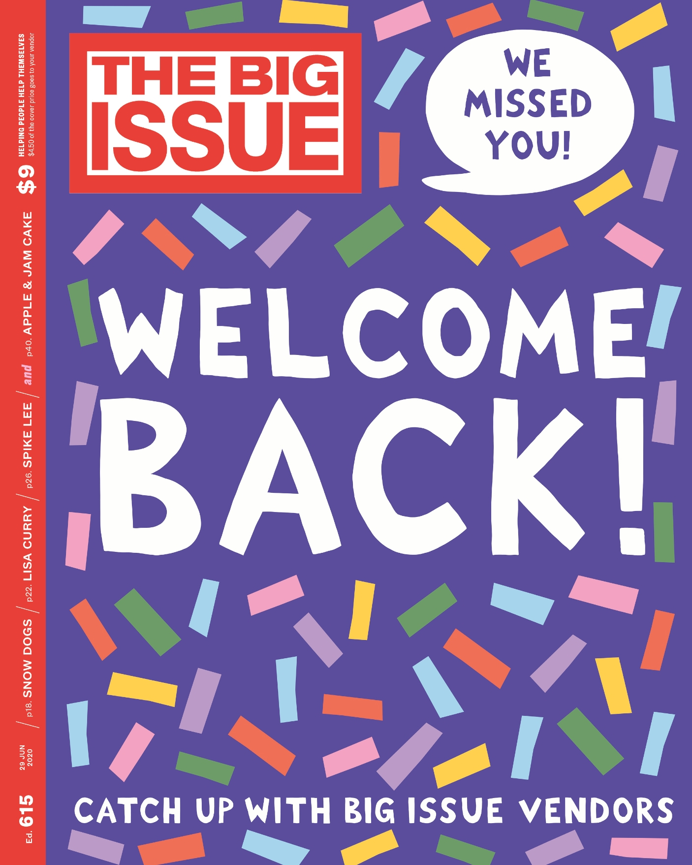 The big issue welcome back cover