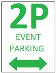 Sample 2p event parking sign