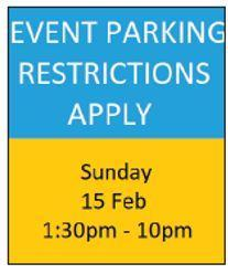 Sample event parking advisory sign