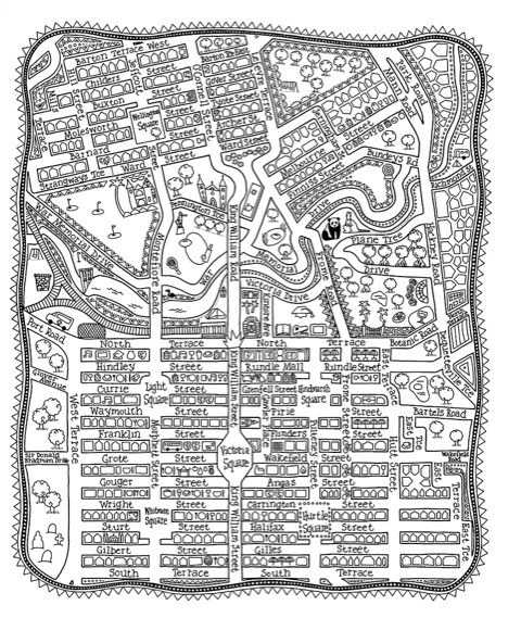 Adelaide map colouring in