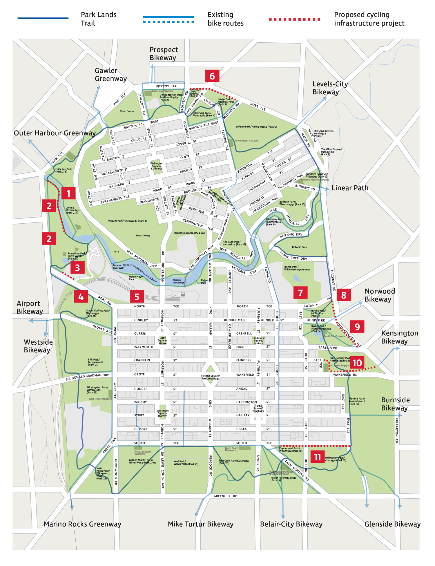 Cycling Infrastructure Projects Map