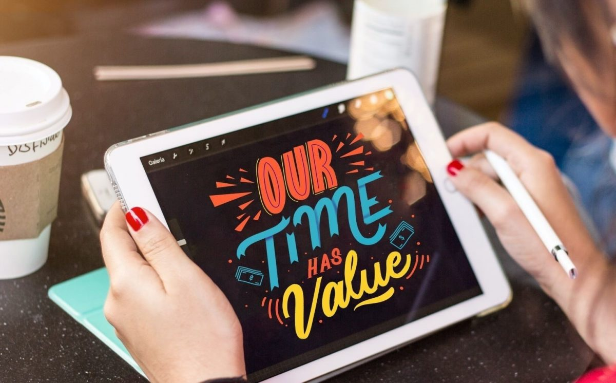Pexels our time has value ipad