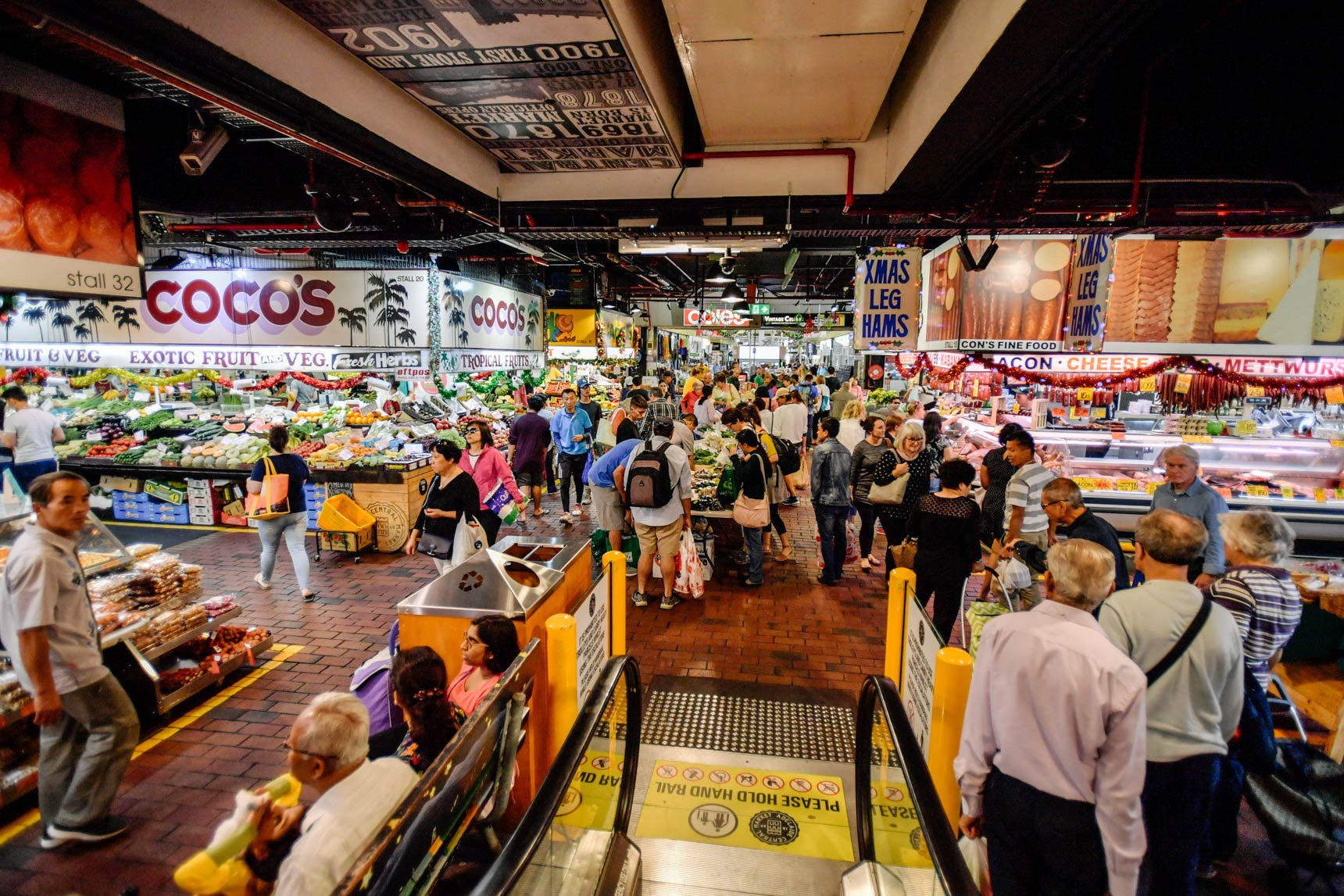 central markets busy during christmas