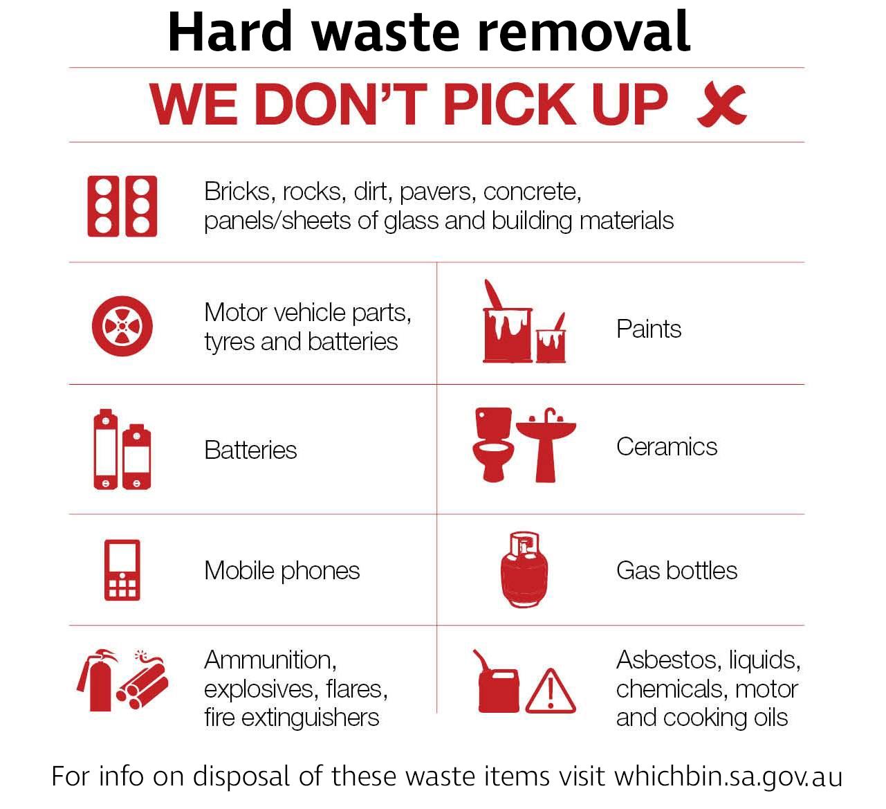 Coa hard waste collection adelaide kerbside no