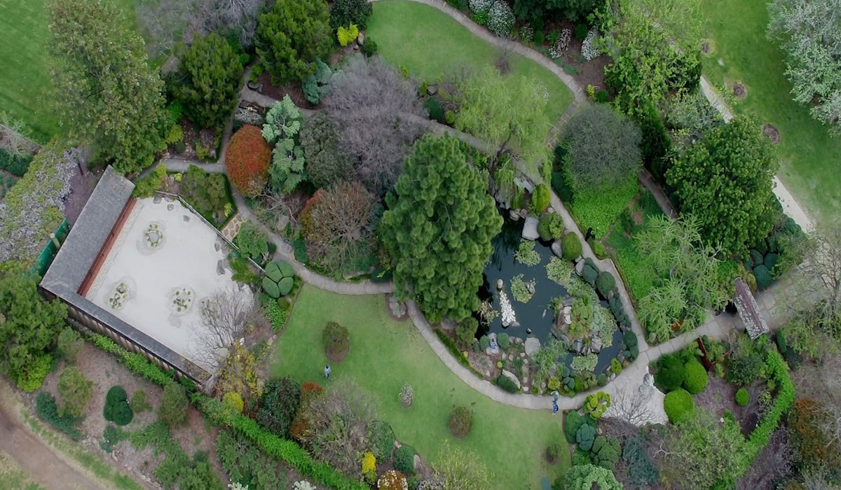 Himeji gardens 2019 aerial view