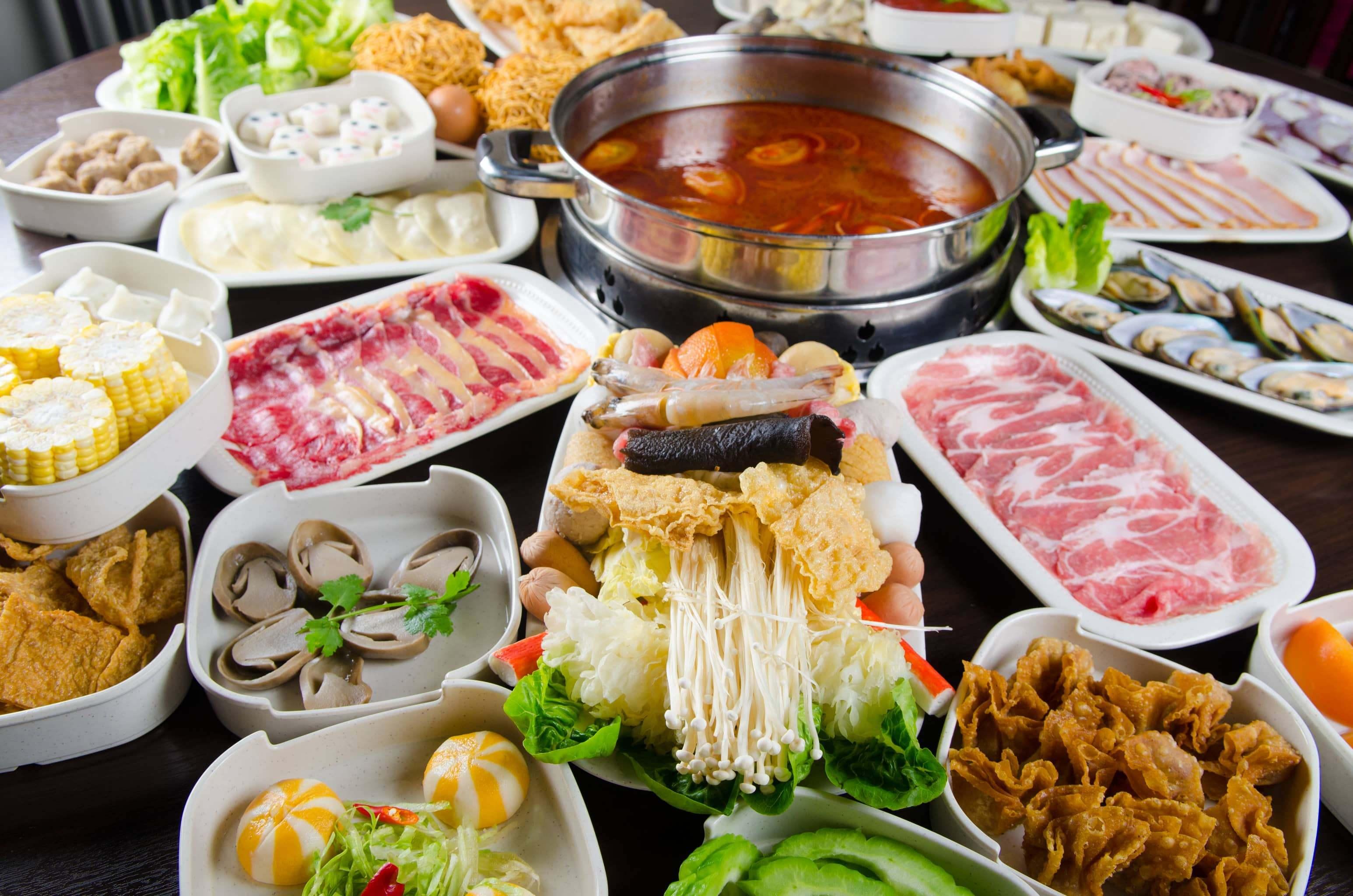Hot pot fresh ingredients