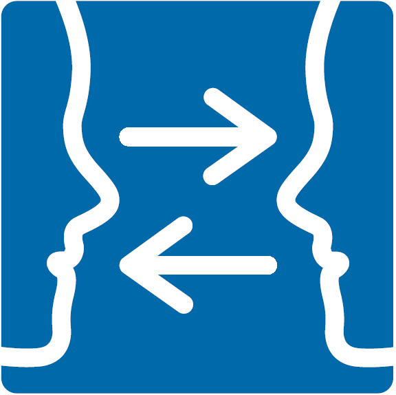 Library communication access symbol