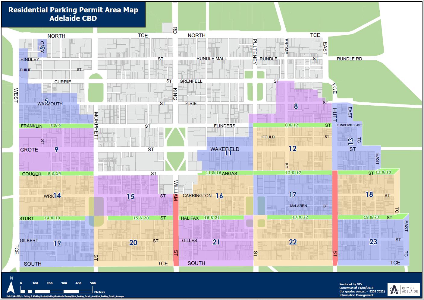 Map cbd parking areas