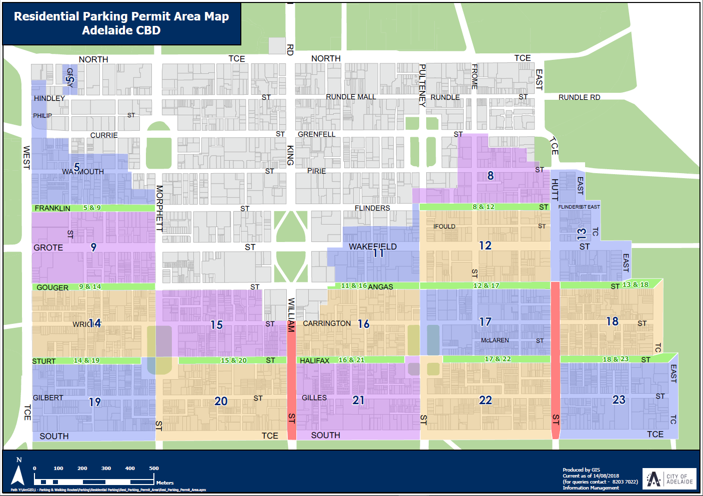 Map cbd parking areas