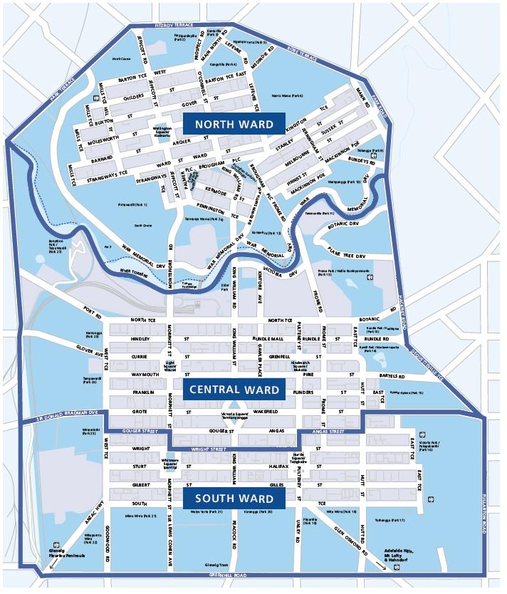 Map electoral structure ward boundaries