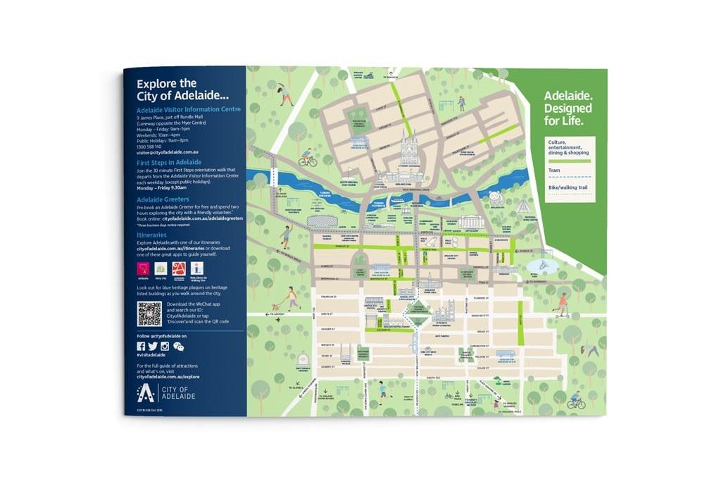 Map explore adelaide