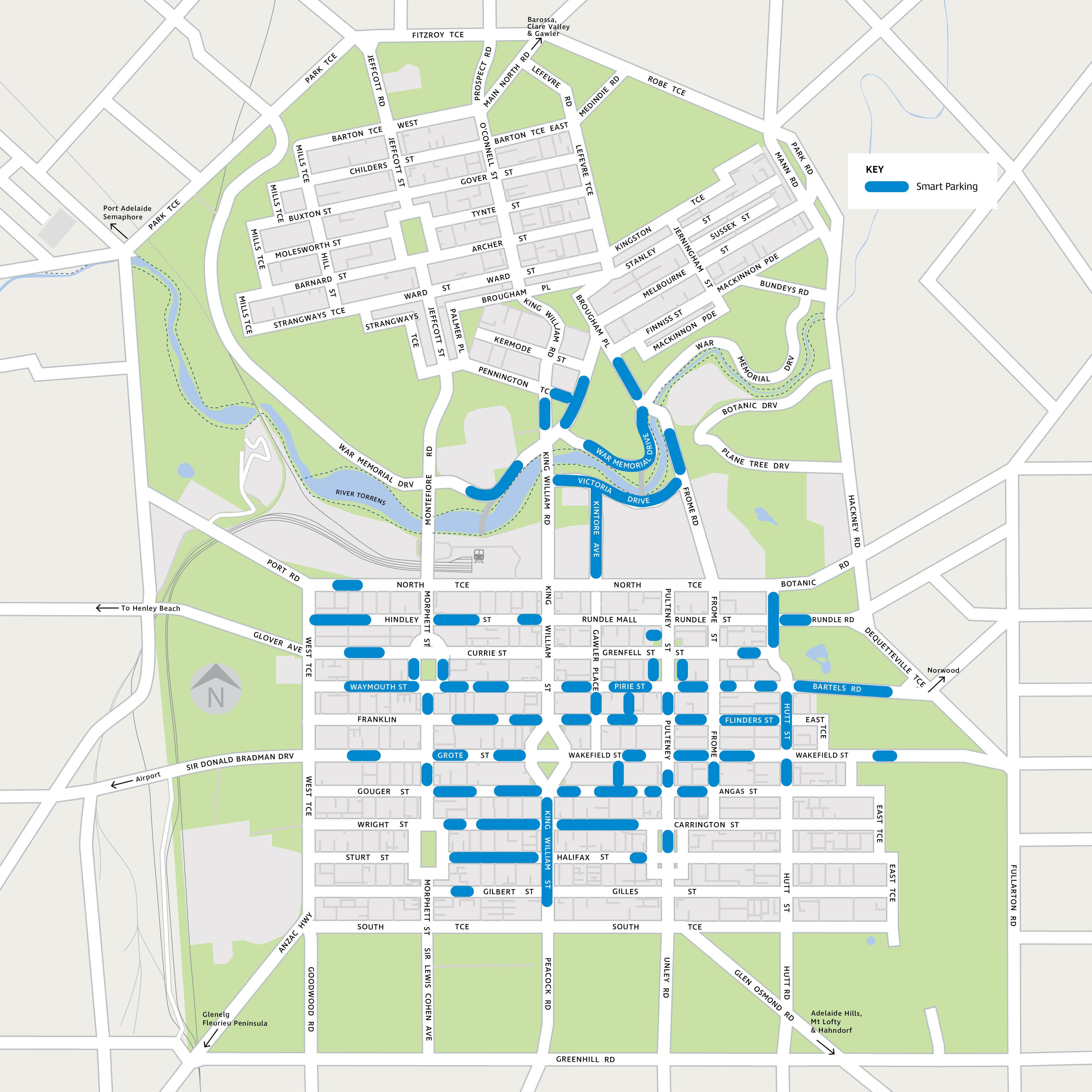 Map smart parking