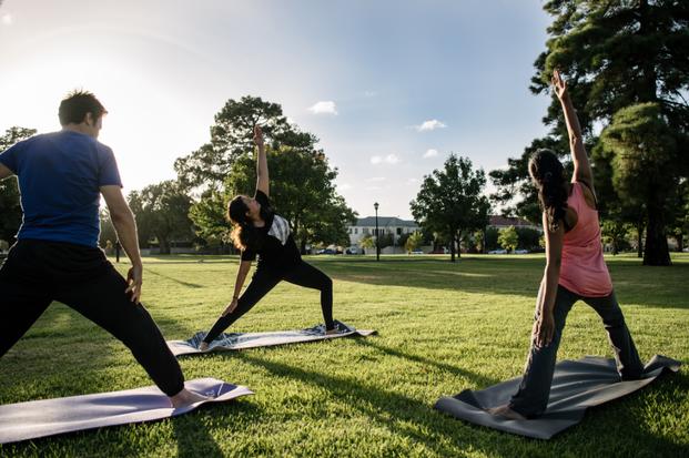 Park lands yoga