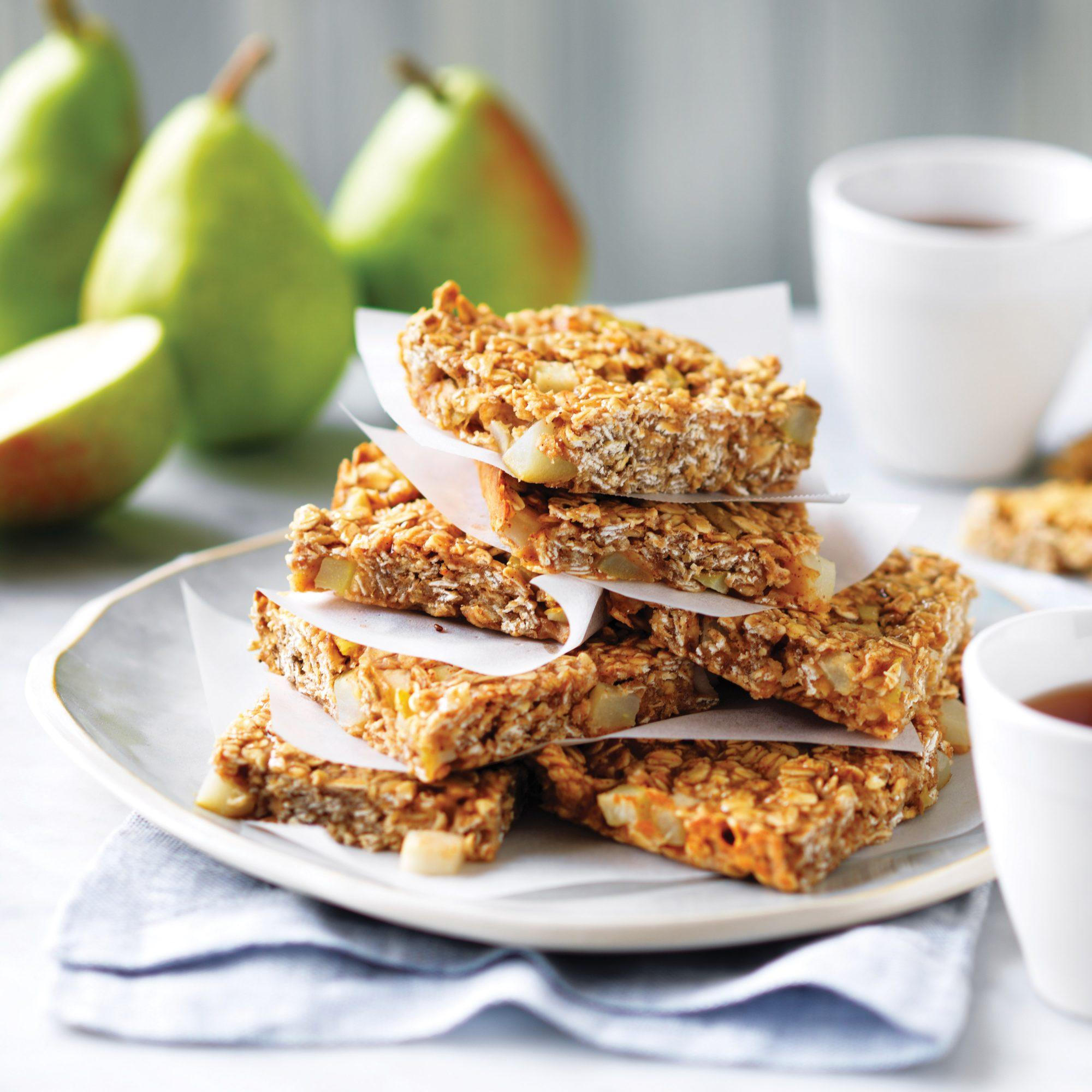 Pear oat slice