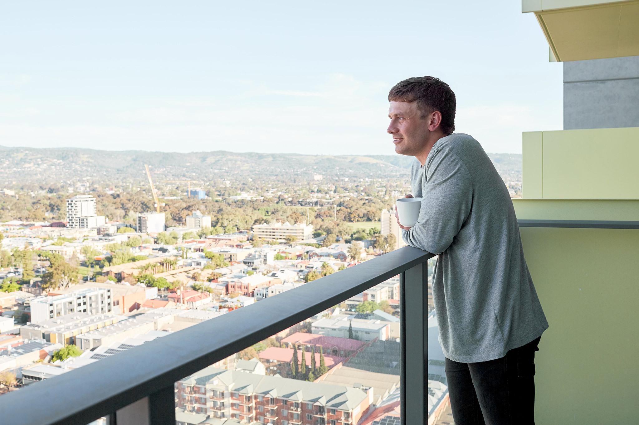 Sam city living balcony view
