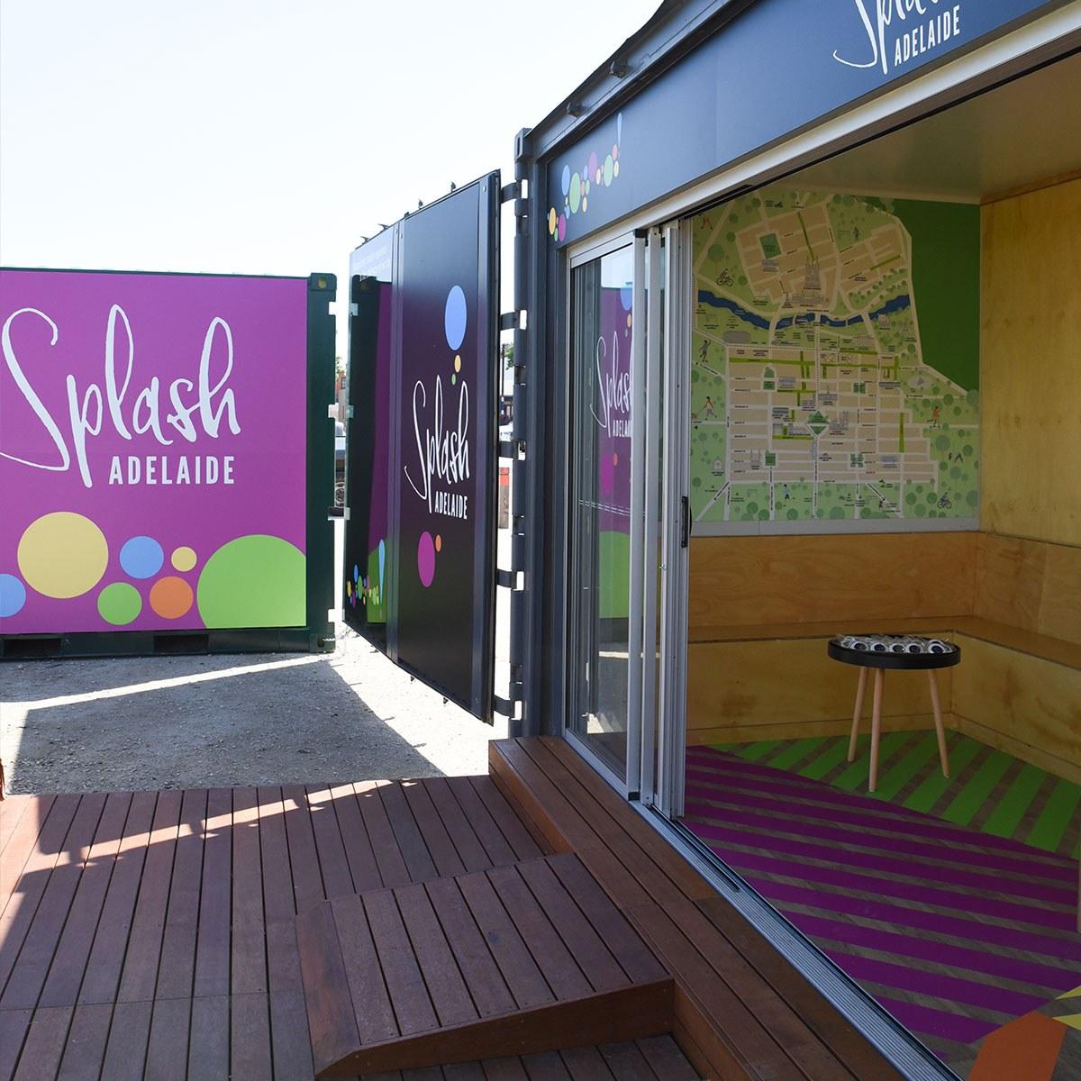 Splash hub inside and outside