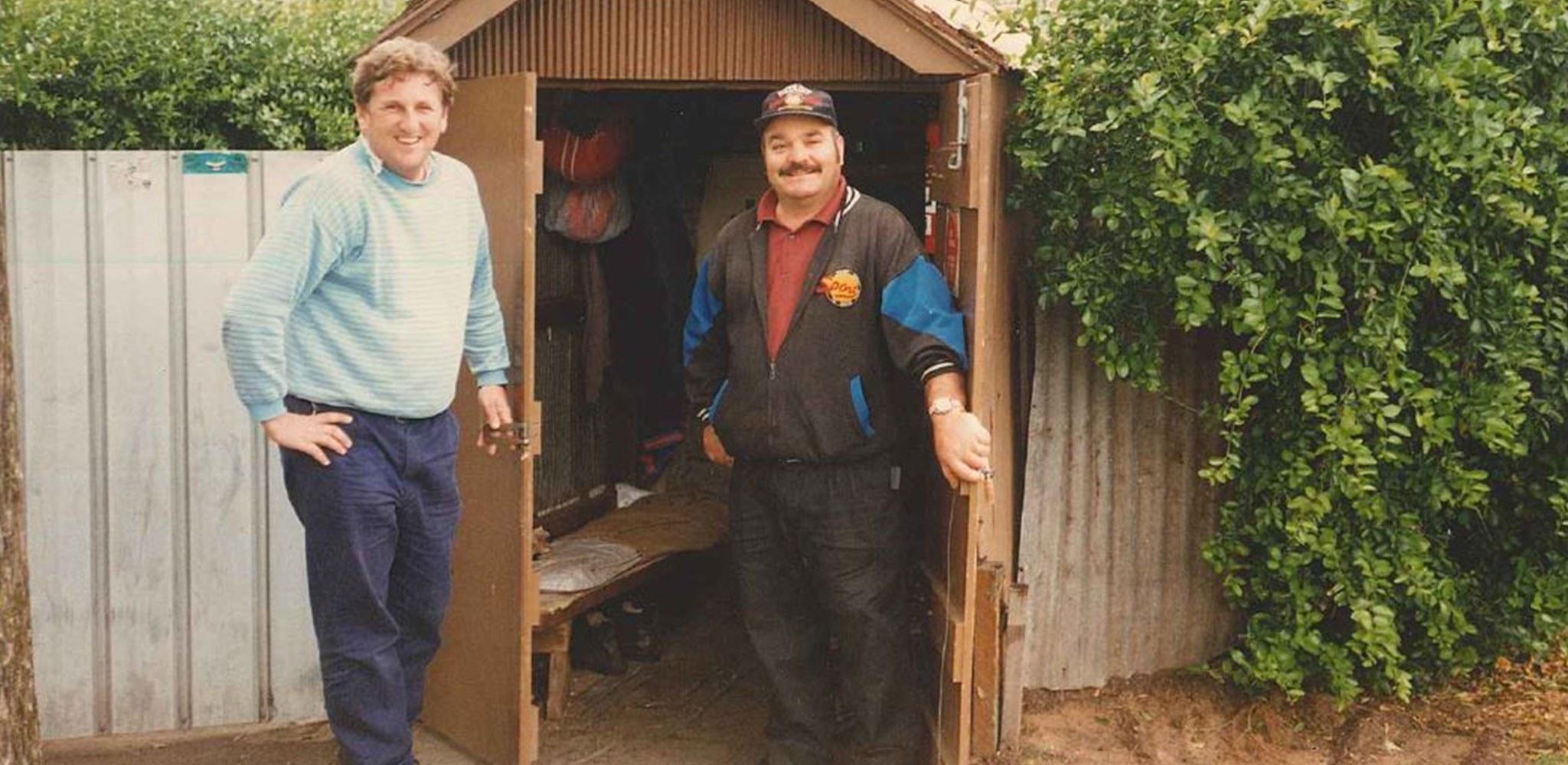 Vic square tin shed
