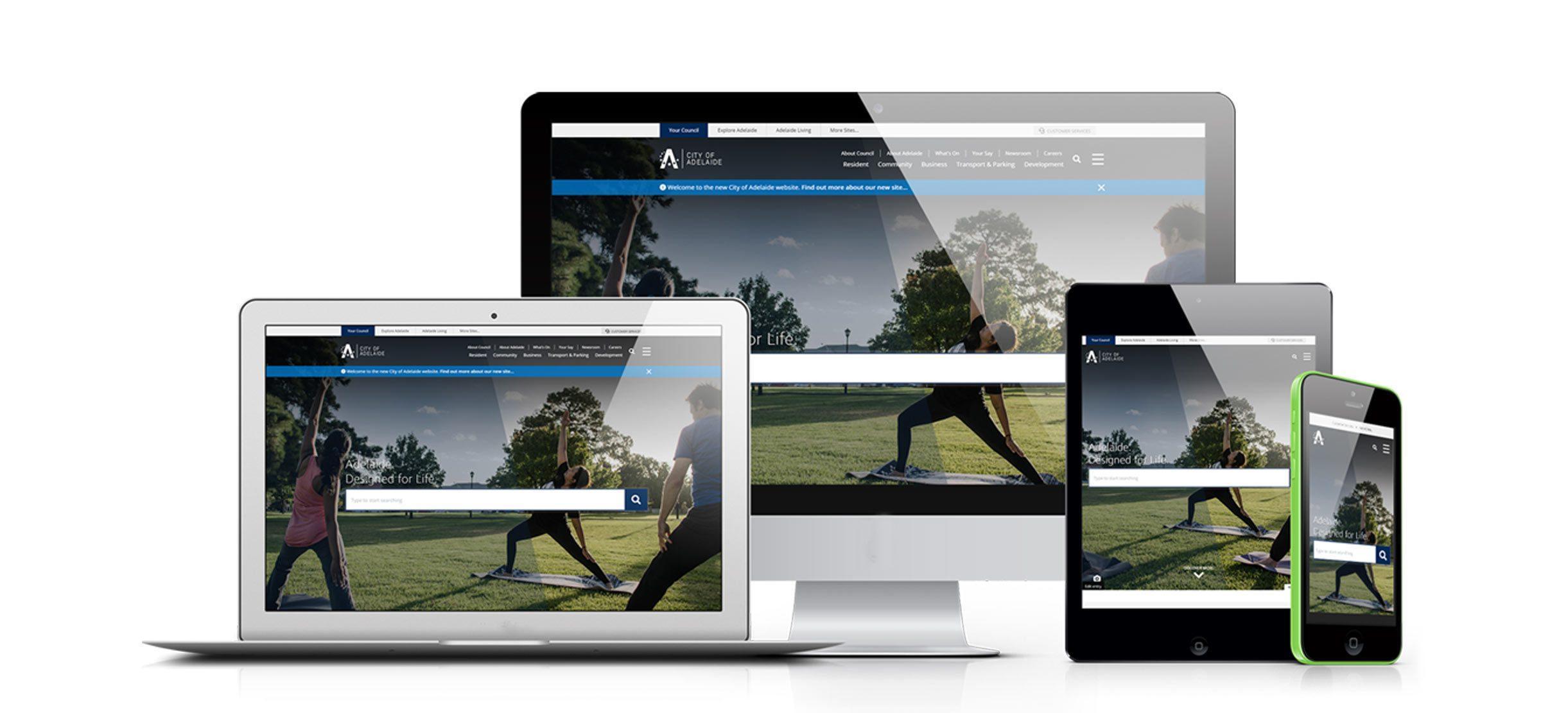 City of Adelaide website mock-up